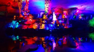 特別運航の貸切遊覧船で美しき桂林・漓江くだり5日間(29) 七星公園七星岩の観光 その3。