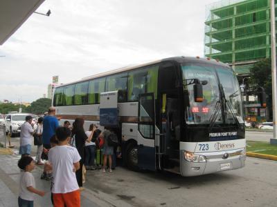 クラーク空港・アンヘレスからマニラ空港への直通バス(2018年7月)