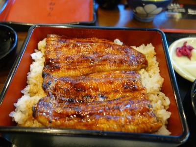 浜松に来てウナギを食べなかったら,浜松に来たことになりません。もちろん,食べました。