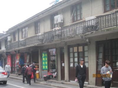 上海の川沙古鎮・北市街・南北の主要道路