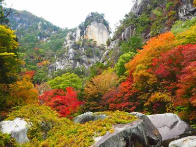 中央線で行く昇仙峡の紅葉