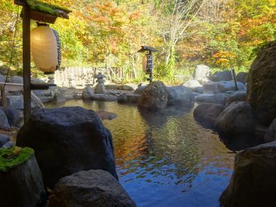 日本秘湯を守る会の宿 新潟 「貝掛温泉」に行ってきました。 紅葉空中散歩楽しんで来ました。