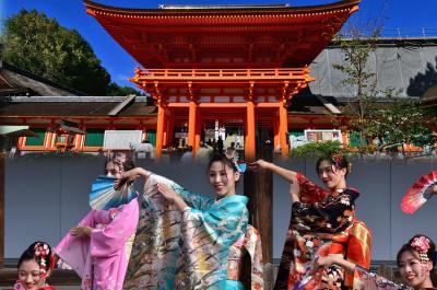 2018  きもので集う園遊会(4)京小町踊り子隊