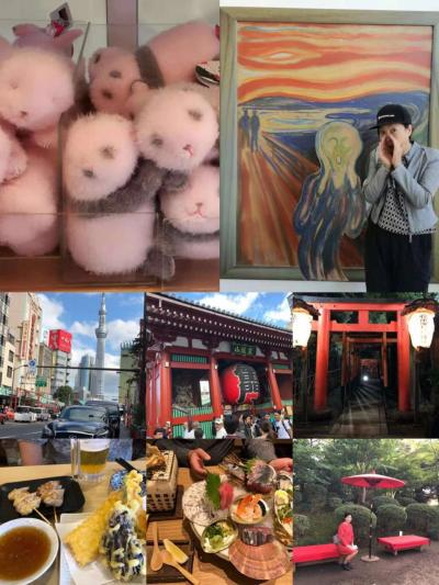 浅草雷門に上野(アメ横、ムンク、パンダ)、なぜか六義園。そして武漢を経由して帰ります。
