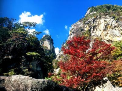 昇仙峡で紅葉狩り 帰りにほったらかし温泉