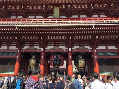 外国人友達と東京観光