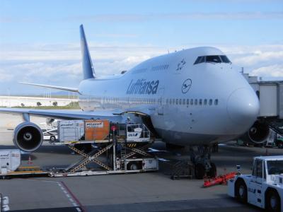 関西空港観光、ラウンジ、機内の様子。 東部ドイツの旅1