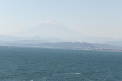 江の島から見る富士山-2018年秋