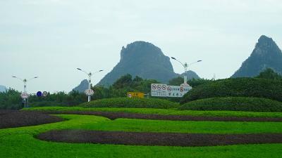 特別運航の貸切遊覧船で美しき桂林・漓江くだり5日間(53) 昼食後は、空港へ向かいました。