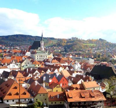 団塊夫婦のヨーロッパ紅葉を巡る旅・2018ー(11)チェコ1・二度目は晴天に恵まれたチェスキークルムロフへ