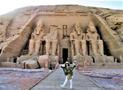 エディハド航空 C クラスで行く! プラチナ女一人  悠久の歴史に触れるエジプトナイル川クルーズ!【3】( ナイルエアにてアスワンへ アブ・シンベル神殿 大神殿 小神殿 編)