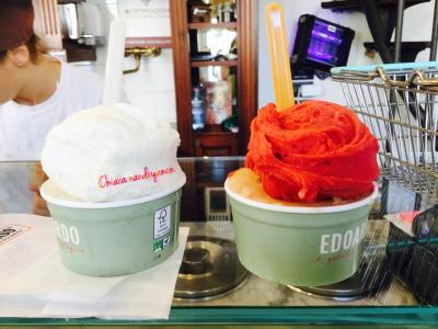 EDOARDO/ il gelato biologico  フィレンツェの友達おすすめのジェラート屋さん