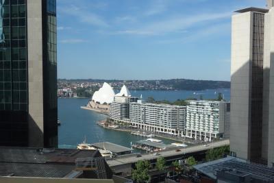 シドニー1日目:成田発JAL搭乗、マリオットホテル滞在、王立植物園と街歩き