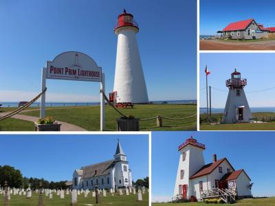 カナダ東部5州、ドライブ旅行2018 Day6-4(プリンスエドワード島 7 Point Prim Lighthouseと、Wood Islands Lighthouse)