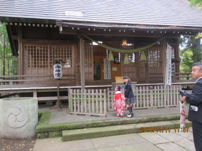 久しぶりに秋の神明社を訪問する