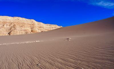 アンデス山脈を越えて、世界最高峰4000m超、天空の砂漠:『アタカマ砂漠』で美しい光景と、薄い空気に、くらくらでへろへろになる旅....#10...「月の谷編」(サンペドロ・デ・アタカマ San Pedro de Atacama/チリ)