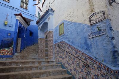 2018年春 モロッコ旅行 シャウエンは猫の街青の街