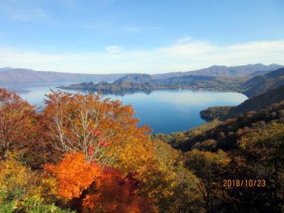 快晴の十和田湖、奥入瀬
