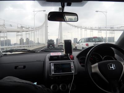 東京ビッグサイト迄首都高速を走る
