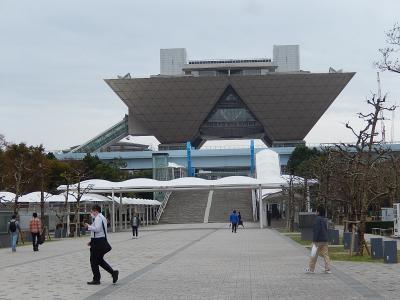 東京ビッグサイト国際展示場前の風景
