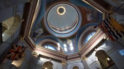 ビクトリア2日目③ ブリティッシュ・コロンビア州議事堂の中を見学