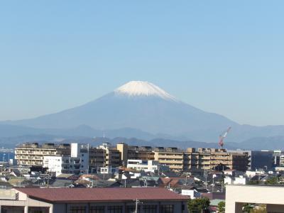湘南江の島駅から見る富士山