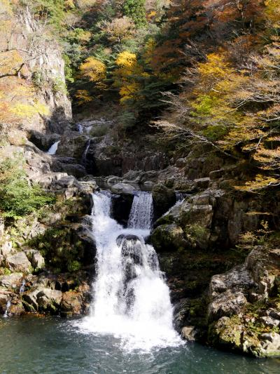 2018.11三段峡,宮島旅行3-三段滝,水梨口に戻り,三段峡正面口へ,姉妹滝