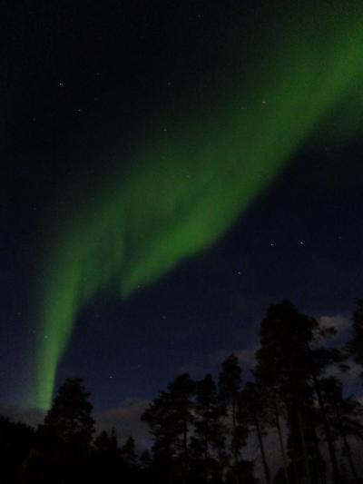秋のフィンランド 紅葉とオーロラ イナリとヘルシンキ 2日目 オーロラハンティング