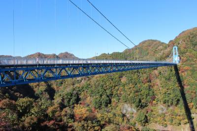 竜神大吊り橋と西山荘
