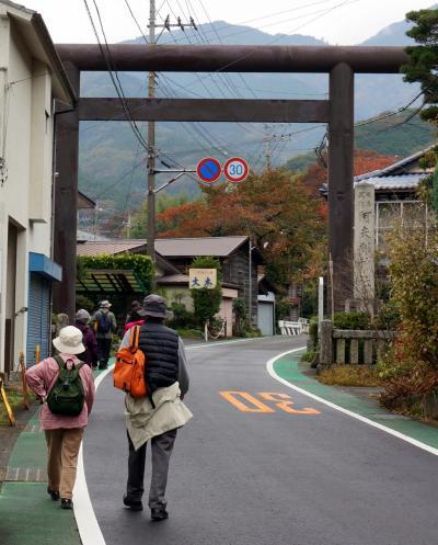 大山街道を歩く (石倉~大山ケーブル下)