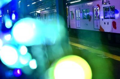 京王電鉄「サンリオラッピングトレイン」の追いかけと多摩センターイルミネーション2018を見に訪れてみた
