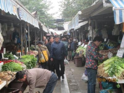 上海の楊浦区・内江路生鮮食品市場