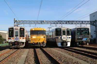 あおなみ線潮凪車庫に愛知県内鉄道4社の車両が勢揃い