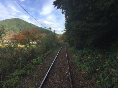 紅葉狩りの旅~小坂鉄道レールバイクと城ヶ倉大橋