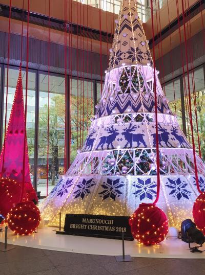 ☆☆丸の内 Bright Christmas 2018☆☆ 北欧から届いたクリスマスwith yumingとKITTEのホワイトツリー