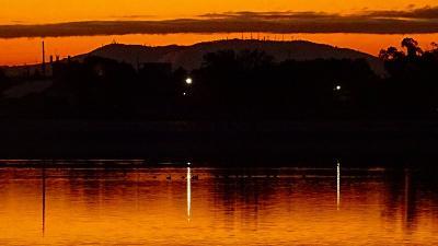 早朝散歩 天神川沿いを下り、瑞ヶ池公園の日の出 上巻。