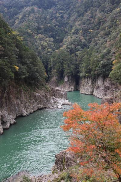 瀞峡 谷瀬のつり橋へ