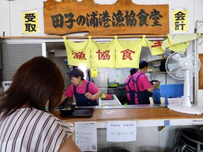 田子ノ浦漁協食堂の昼食 ふじのくに田子の浦みなと公園