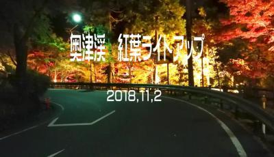奥津渓紅葉ライトアップ&岩井滝