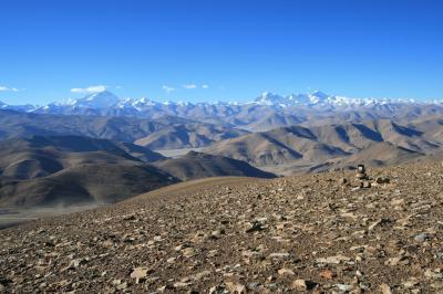 ギャウォ・ラ峠(5200m)からヒマラヤの8000m峰を眺める