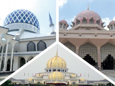 雨季のウキウキ マレー半島(8泊9日)Vol.5 ~ ピンク&ブルーのモスクと黄金のパレス