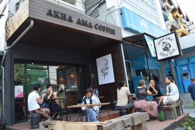 チェンマイシーズンスティ2018 ~ カフェ (3)AKHA AMA COFEE 本店と支店