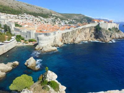 ビジネスクラスで母娘クロアチア ⑧ ドゥブロヴニク 旧市街と青い海の絶景