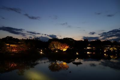 ライトアップも楽しめた・紅葉詣での後楽園と吉備津神社