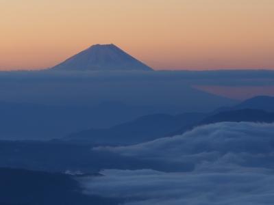 諏訪から富士山を見る