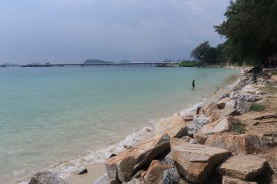 国慶節休暇タイ07★チョンブリーのサタヒップの海軍基地内にあるビーチへ ~Nangram Beach・Nangrong Beach~