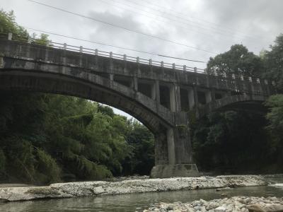 御坂サイフォン  めがね橋
