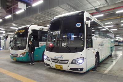 2018.11 韓国(4)優等バスに乗車して、大邸から安東へ