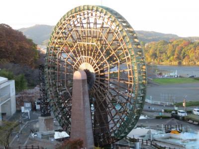 寄居の川の博物館見学と長瀞・月の石もみじ公園のライトアップ