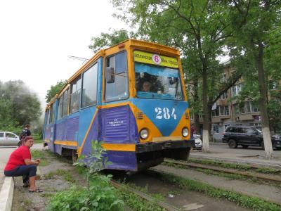 バスにも挑戦、ウラジオストク3日目